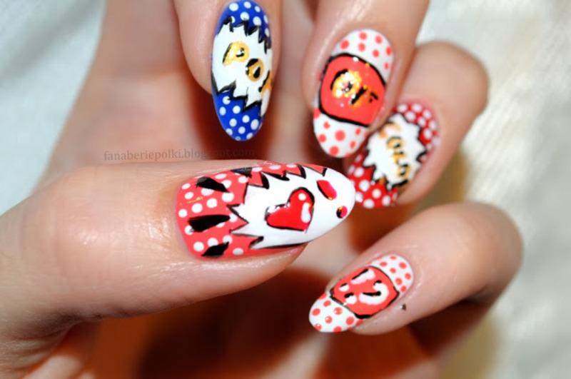 Pop Art Nails Nail Art By Carolina Nailpolis Museum Of Nail Art
