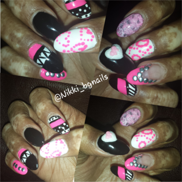 lover's land nail art by Nikki