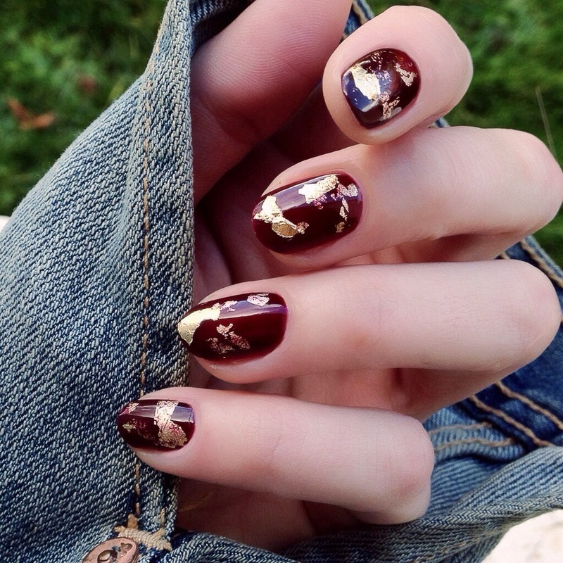Gold nail art by Nails Ink