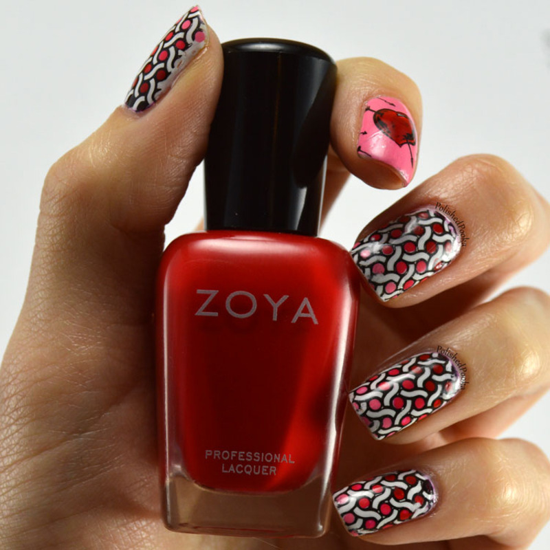 Valentine's Decals nail art by Kyema