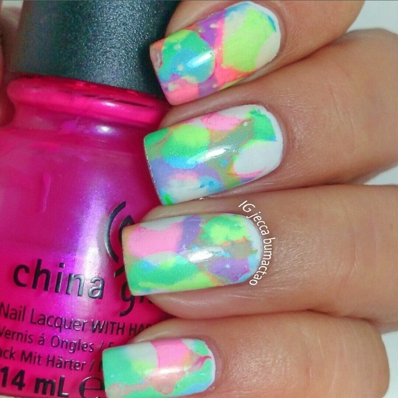 candy clouds nail art by Jessica