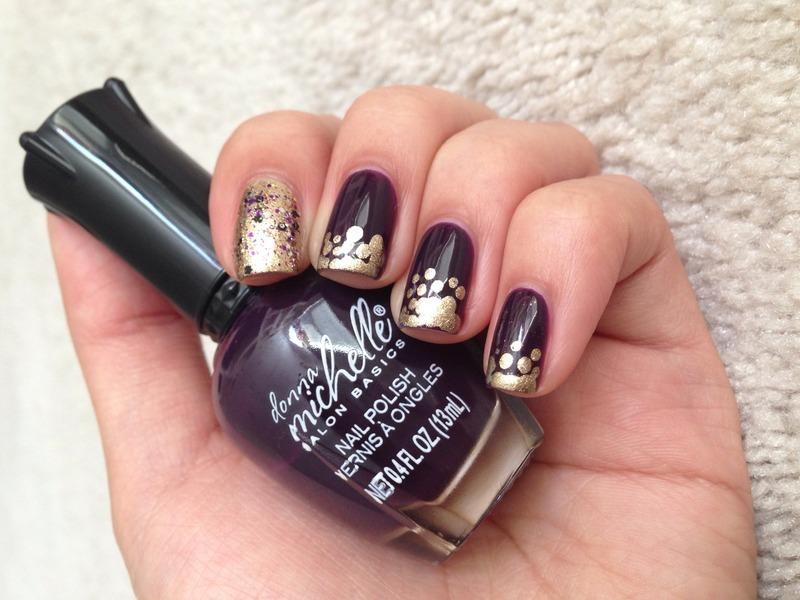 Clustered Dotticure nail art by Jenn Thai