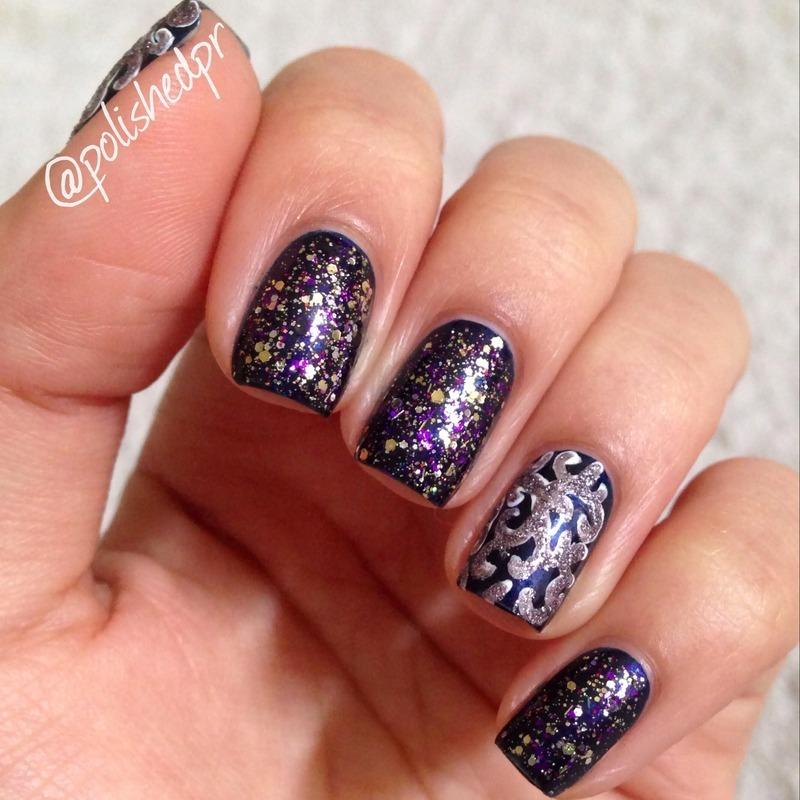 Violet Elegance nail art by Jenn Thai