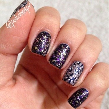 Violet Elegance nail art by Jenn Thai