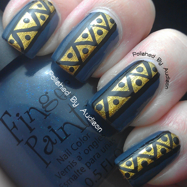 Tribal Nail Art nail art by Ashley Hoopes
