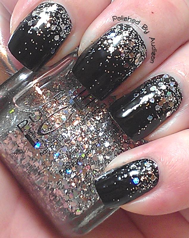 Glitter Gradient Nail Art nail art by Ashley Hoopes