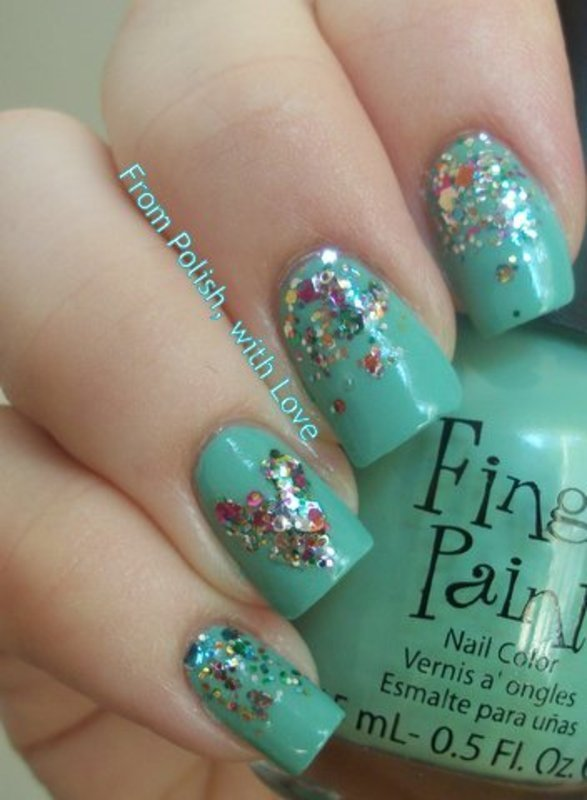 Mint Mani for Talia Joy nail art by Dani - Nailpolis: Museum of Nail Art