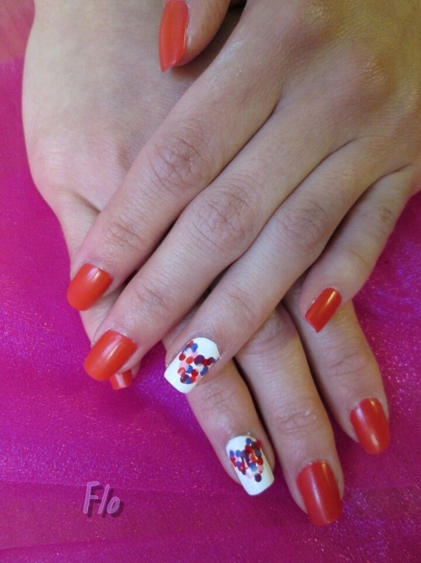 Polka-Heart Valentine  nail art by Flo