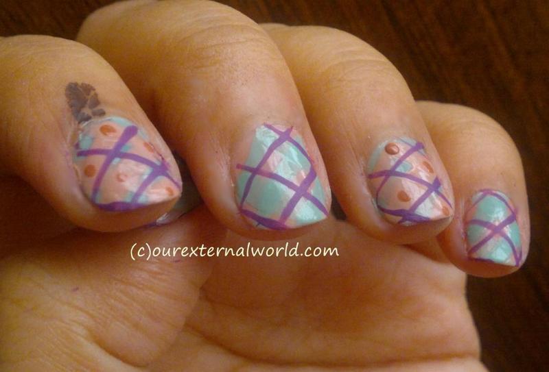 Plaid Nail Art nail art by  Shilpa  Gandotra