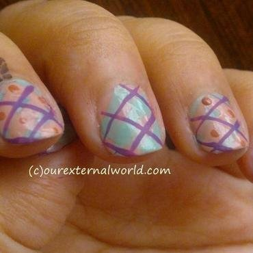 Plaid Nail Art nail art by  Shilpa  Gandotra