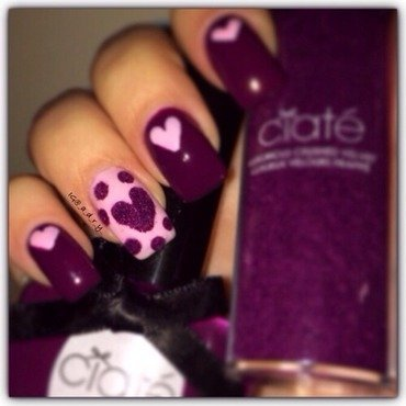 💕Velvet Heart💕 nail art by Adriana