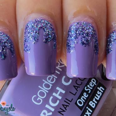 Lavender paint drip nail art by bydanijela