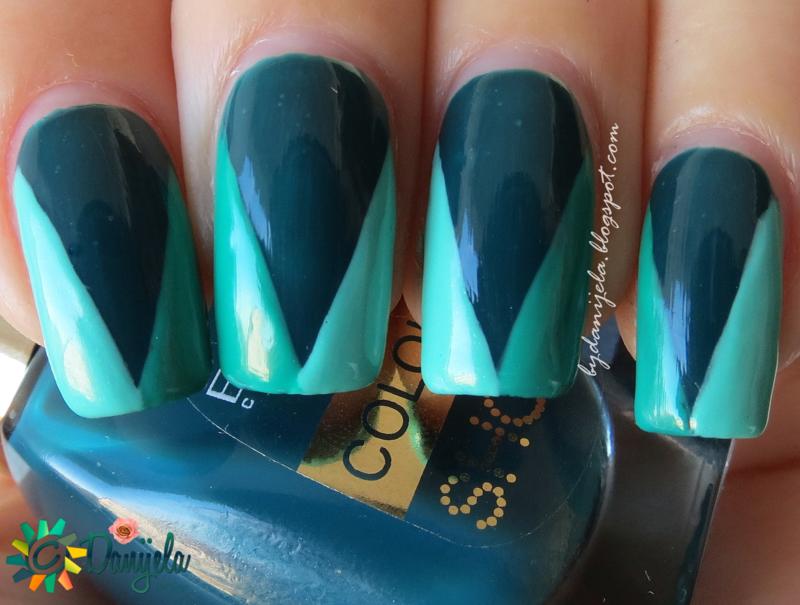 """""""V"""" manicure nail art by bydanijela"""