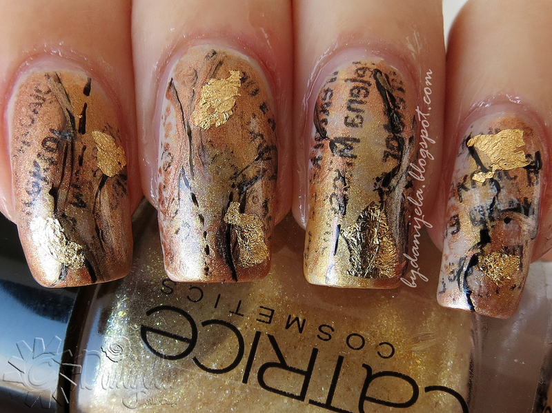 Middle Ages inspired manicure nail art by bydanijela