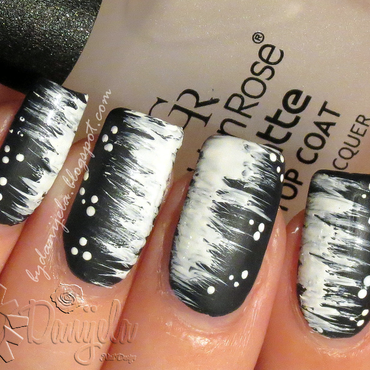 Winter storm manicure nail art by bydanijela