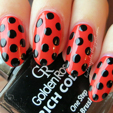 Redvolution Polka party nail art by bydanijela