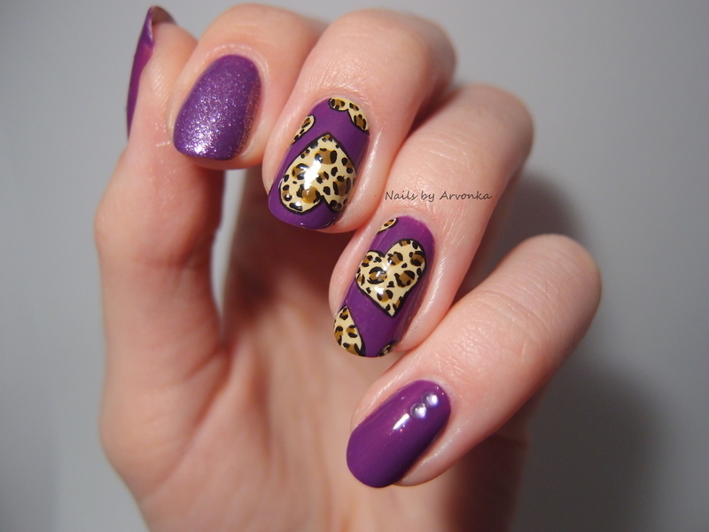 Beloved leopard print nail art by Veronika Sovcikova