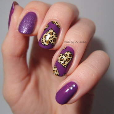 Beloved leopard print nail art by Veronika Sovcikova