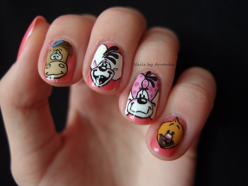 Diddl and Friends Nail Art nail art by Veronika Sovcikova