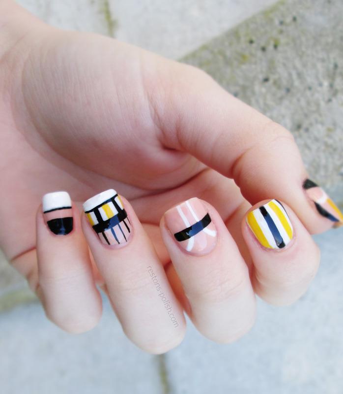 Dress inspiration nail art nail art by Restons polish