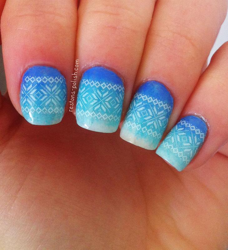 Winter nail art nail art by Restons polish