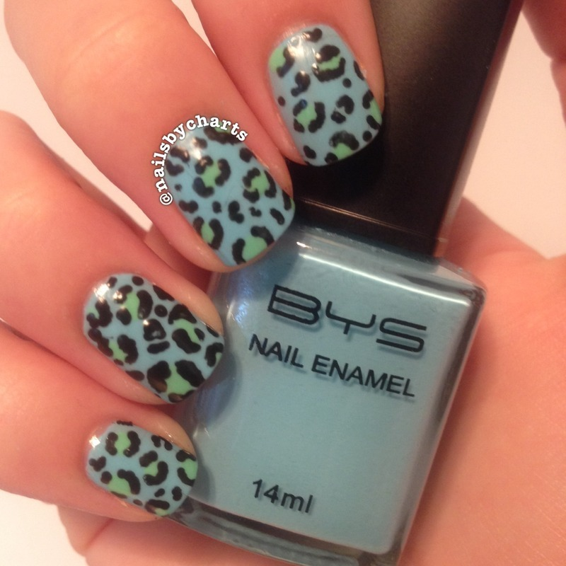 Matte leopard print  nail art by Claudia