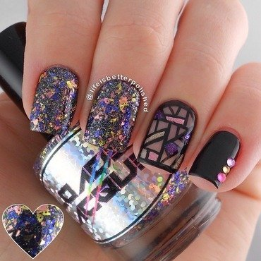 Stained Glass nail art by Karissa