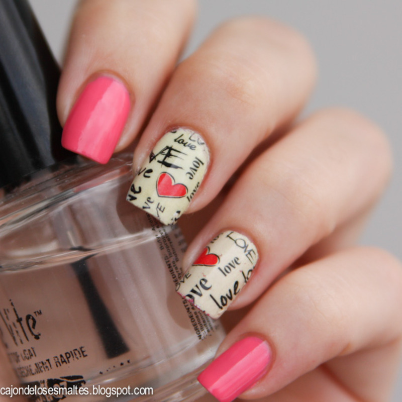 Full nail water decals - Valentine