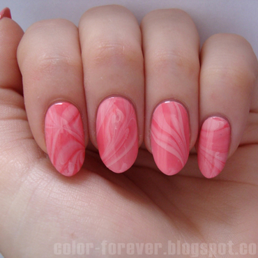 candy water marble nail art by ania
