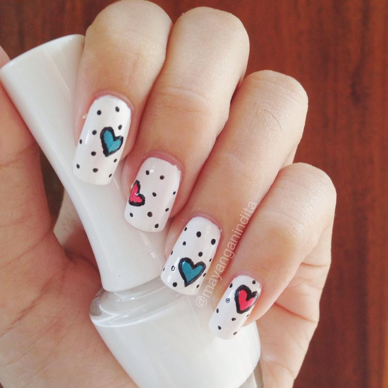 Popping Your Heart nail art by Mayang Anindita