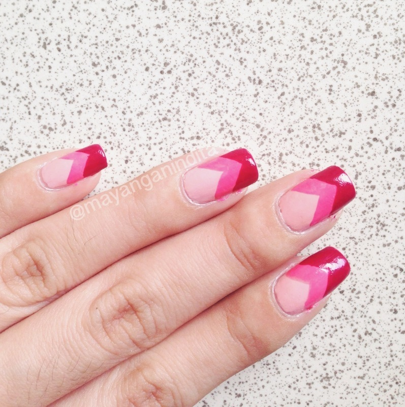 Color of Your Valentine nail art by Mayang Anindita