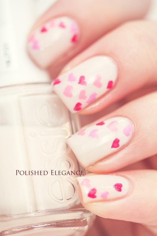 Valentines nails nail art by Lisa