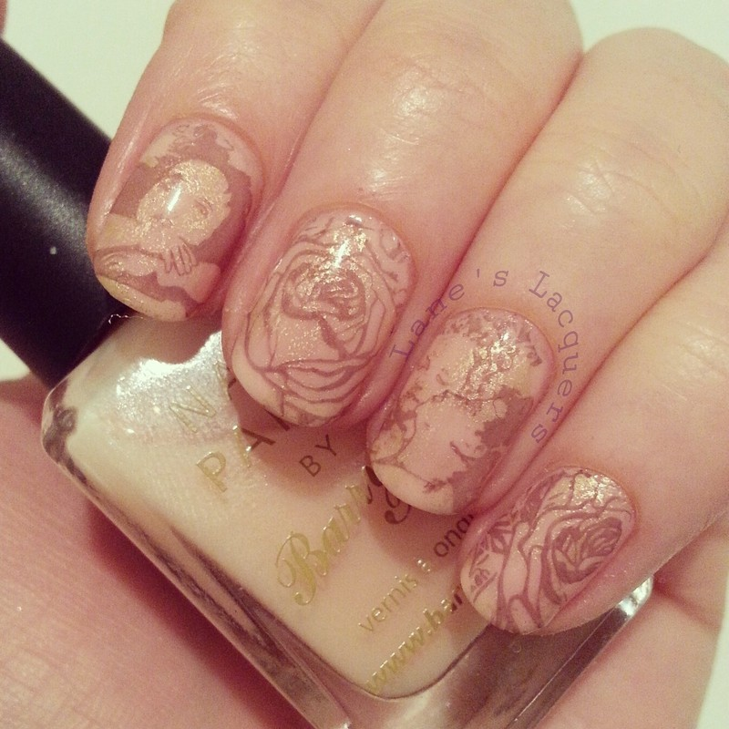 Vintage Valentine's Nail Art nail art by Rebecca