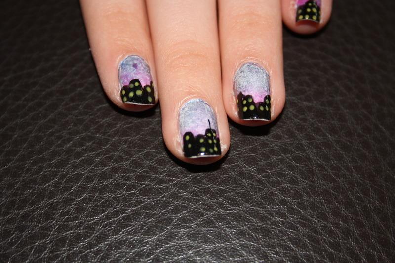 Skyline nail art by Ciara Donoghue