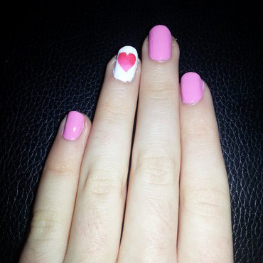 Valentines Heart nail art by Ciara Donoghue