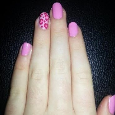 Valentines Leopard Print nail art by Ciara Donoghue
