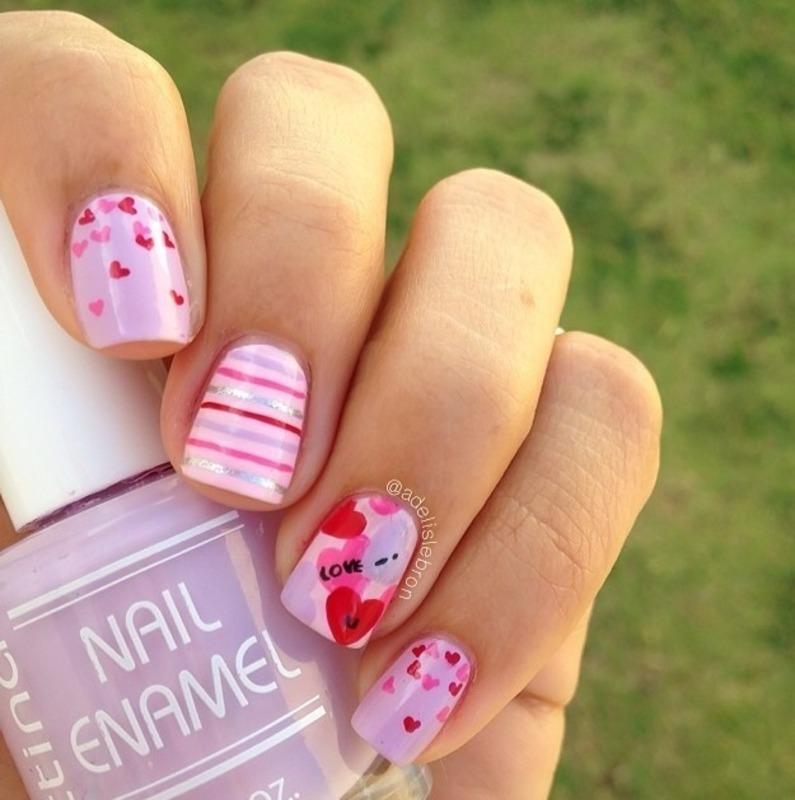 I love you nail art by Adelis Lebron