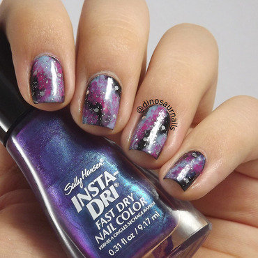 Galaxy nail art by  Vanesa