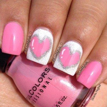 Heart Nails nail art by Vicenta