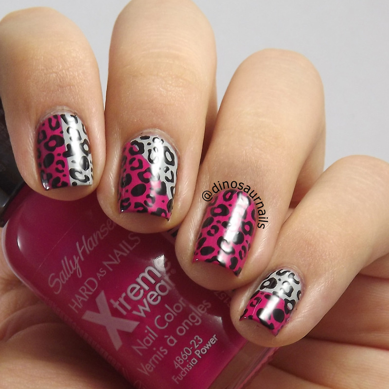 Double Color Leopard Animal Print nail art by  Vanesa