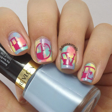 Psicodelic Love nail art by  Vanesa