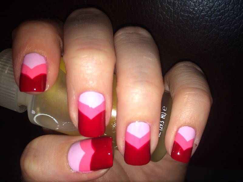 Heart Tops nail art by Krystal Sprouse