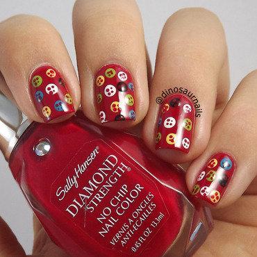 Buttons nail art by  Vanesa