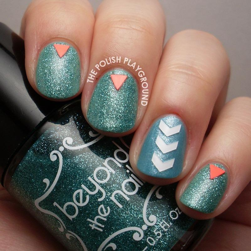 Simple Nail Art with Nail Decals nail art by Lisa N