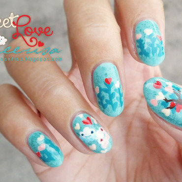 Sweet Love nail art by Lacqueerisa