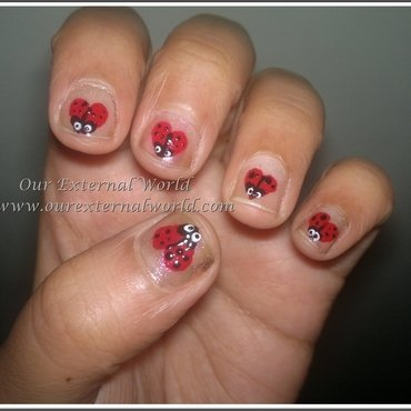 Valentines day nail art animal print thumb370f