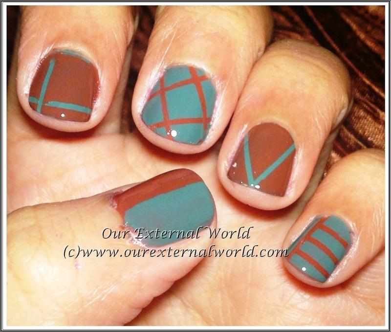 LOVE nail art using striping tape nail art by Shilpa Gandotra ...