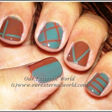 Love nail art using striping tape thumb370f