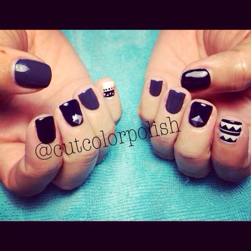 Spikey  nail art by Cutcolorpolish