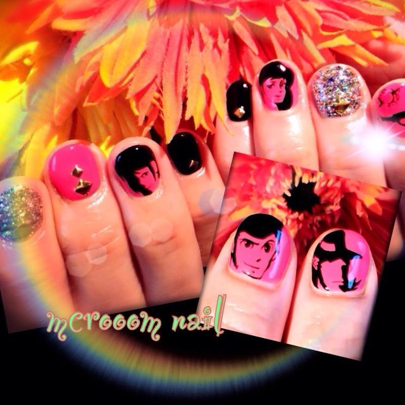 LUPINtheⅢ nail art by Michiru